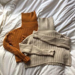 Forever 21 cropped turtleneck sweater bundle